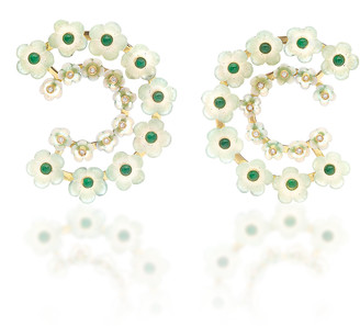 CASA CASTRO 18K Gold Mother Of Pearl Multi-Stone Earrings