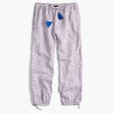 J.Crew Striped tassel-tie pant