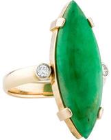 Ring Jade & Diamond