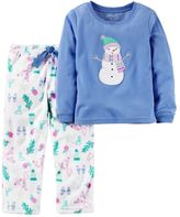 Carter's Toddler Girl Fleece Top & Pants Printed Pajama Set