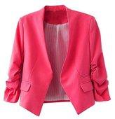 Ninimour- Korea Style Women's Blazer Jacket Suit Work Casual (L, )