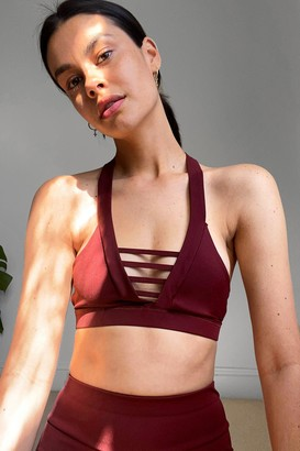 Nasty Gal Womens Work It Cut-Out Workout Crop Top - Red - S