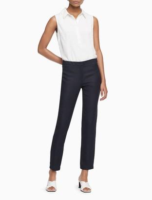 Calvin Klein Linen Blend Ankle Pants