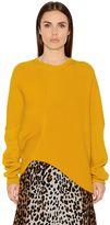 Stella McCartney Asymmetrical Ribbed Knit Wool Sweater