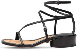 Salvatore Ferragamo 30mm Egadi Leather Sandals