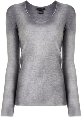 Avant Toi Washed Scoop-Neck Top