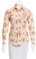 A.P.C. Collared Floral Print Top