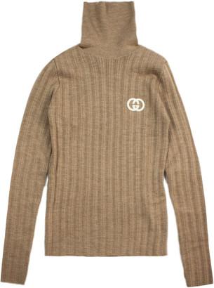 Gucci Camel Brown Wool Jumper