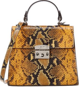 Valentino By Mario Valentino Cleo Python-Print Leather Satchel