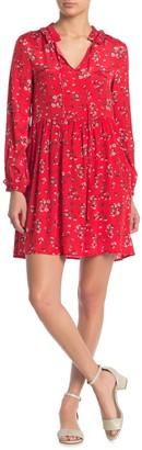 MelloDay Floral Babydoll Mini Dress