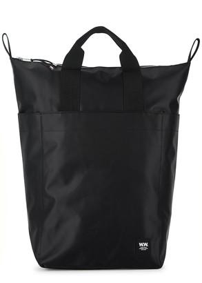 Wood Wood Sidney black nylon backpack