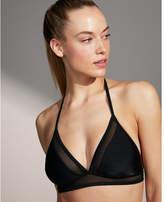 Express mesh banded triangle bikini top