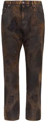 Dolce & Gabbana Acid Wash Straight-Leg Jeans