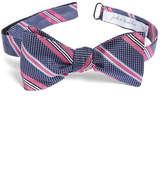 John W. Nordstrom R) Dotted Stripe Silk Bow Tie