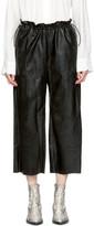 MM6 MAISON MARGIELA Black Faux-leather Drawstring Trousers