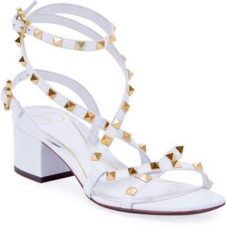 Valentino Garavani Rockstud Flair Low-Heel Sandals