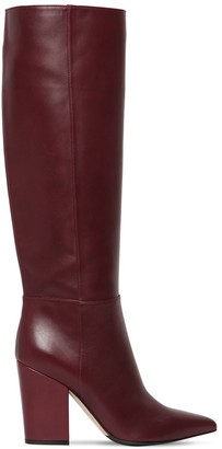 Sergio Rossi 90MM SERGIO TALL LEATHER BOOTS