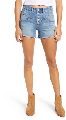 Vigoss Seam Front High Waist Rebel Denim Shorts