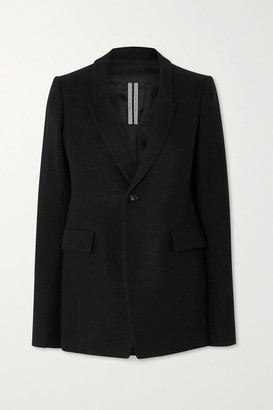 Rick Owens Giacca Cotton And Wool-blend Blazer - Black