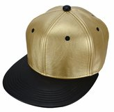 Heymei Soft Fashion Boys/Girls Hiphop PU Leather Flat Baseball Cap S01