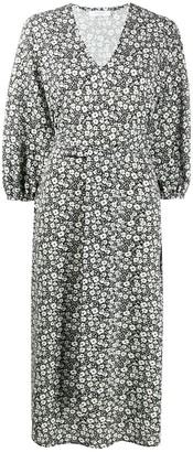 Roseanna V-neck tie waist floral print dress