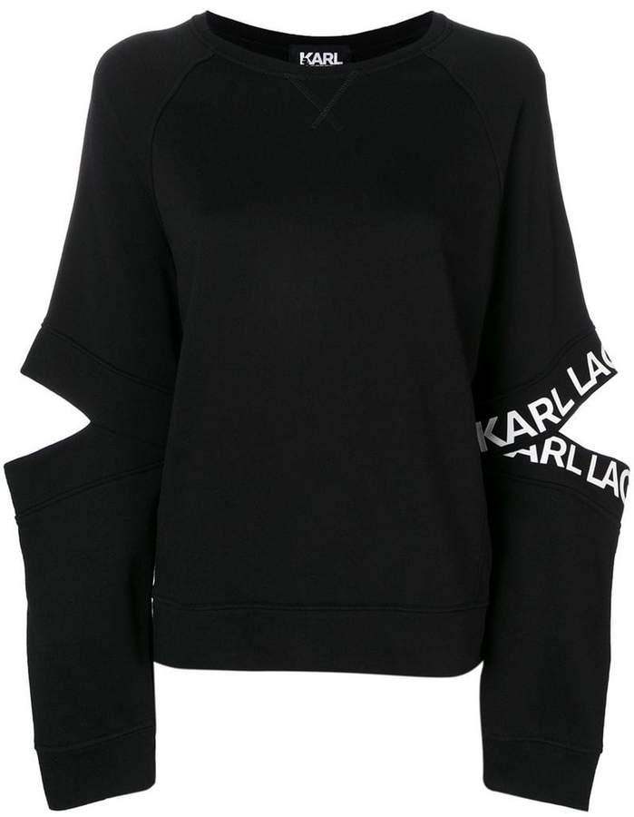 Karl Lagerfeld cut-out sweatshirt