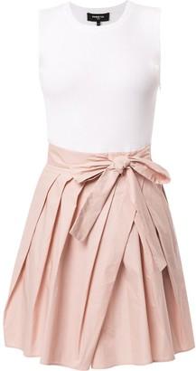 Paule Ka Contrast Sleeveless Dress