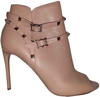 Valentino Rockstud Pink Leather Boots