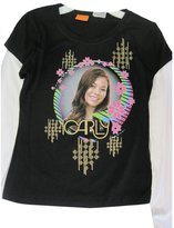 Disney Big Girls Black ICarly Character Bubble Image Long Sleeve T-Shirt 7-8