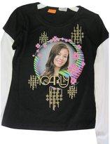 Disney Big Girls Black ICarly Character Bubble Image Long Sleeve T-Shirt 7-8