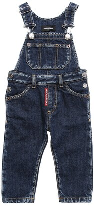 DSQUARED2 Stretch Cotton Denim Overalls