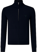 Gant Zip Through Jumper, Navy