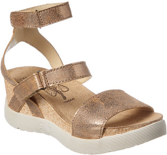 Fly London Wink 196 Leather Wedge Sandal
