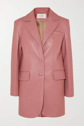 MATÉRIEL Faux Leather Blazer - Pink