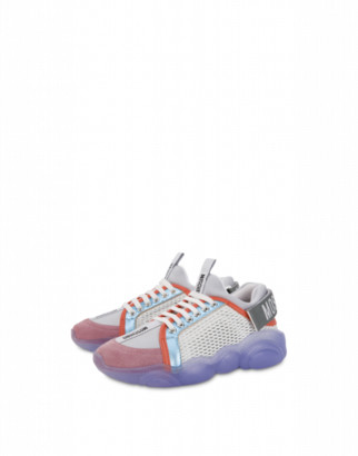 Moschino Teddy Shoes Sneakers Woman Multicoloured Size 35 It - (5 Us)