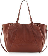 Kooba Kingsley Pebbled Leather Tote Bag, Brown Metallic