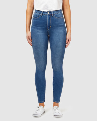 Jeanswest Women's Blue High-Waisted - Freeform 360 Contour High Waisted Skinny 7-8 Jeans True Blue - Size One Size, 8 Regular at The Iconic