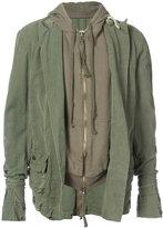 Greg Lauren - army tent hooded jacket - men - Cotton - 3