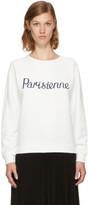 MAISON KITSUNÉ White parisienne Sweatshirt