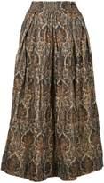 Uma Wang floral print A-line skirt