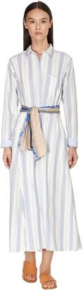 Forte Forte Striped Cotton Poplin Shirt Dress
