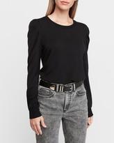 Express Pleated Puff Sleeve Sweatshirt