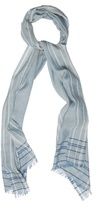 Dunhill Striped-frame Wool-blend Scarf