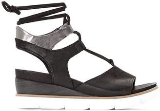 Mjus Leather Wedge Heel Tie Leg Sandals