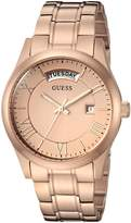 GUESS GUESS? Women's U0994L3 Brushed Rose Gold-Tone Classic Watch with Day and Date
