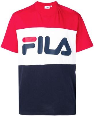 Fila logo print colour block T-shirt