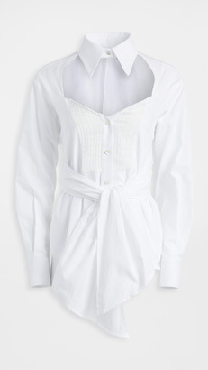 Unravel Project Heart Shaped Cross Knot Shirt