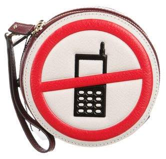Anya Hindmarch Hadlow No Mobiles Clutch w/ Tags