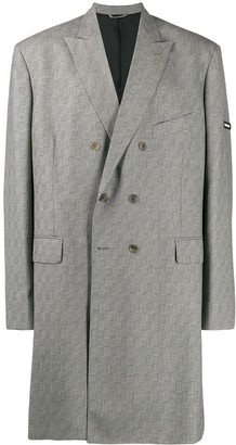 Balenciaga Washed Double Breasted Coat