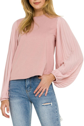 ENGLISH FACTORY Chiffon-Long-Sleeve Blouse